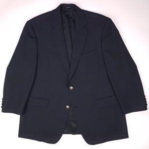 Hart Schaffner Marx 44s Blue Blazer Navy Short Sil